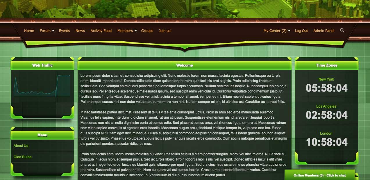 minecraft free website template minecraft website templates free minecraft website. Black Bedroom Furniture Sets. Home Design Ideas